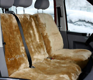 LAMMFELL-Sitzbezuege-f-Fahrersitz-Doppelbank-VW-T4-T5-und-andere-Farben