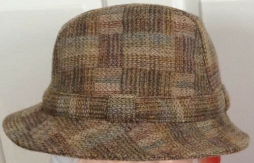 Shandon Headwear Donegal Tweed Wool Fedora, size 7