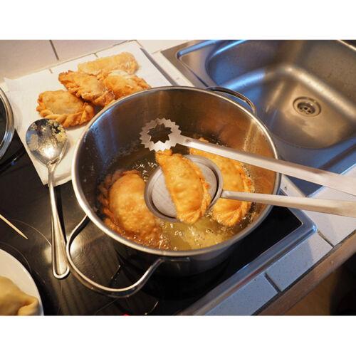 2 Stück Essen Clip Friteuse Sieb BBQ Servierzange Braten Sieb