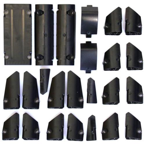 Black Studless Panels Fairings Bricks Lego Technic Selection 24 Parts NEW
