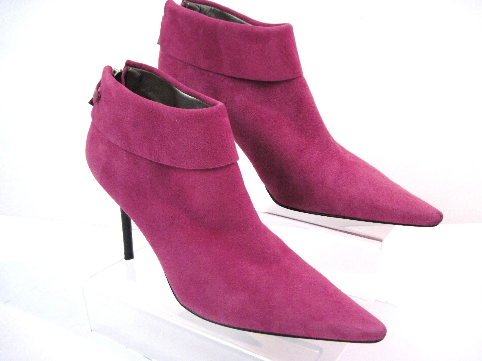 BCBGirls Pink Suede Sexy Litchy Ankle Booties Limited Edition Size 5 1 2 B