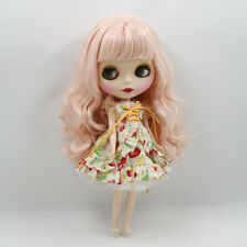"12"" Neo Blythe Doll from Factory Doll Matte Face Pink Curly Hair With Bang"