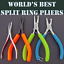 """Texas Tackle /""""SMALL/"""" Stainless Steel New 4/"""" Split Ring Pliers Pryers"""