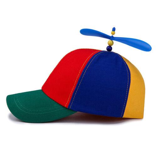 Boys Girls Kids Baseball Cap Adjustable Snapback Summer Sun Hat Windmill Peaked
