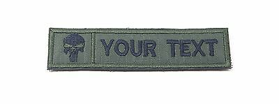 CUSTOM NAME TEXT TAG GREEN CANVAS ARMY MILITARY EMBROIDERED PATCH #P060
