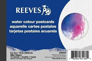 "Watercolour or Acrylic Available Reeves Postcard Paper Pad 6 x 4/"" 12 Sheets"