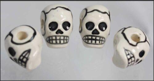 SUGAR SKULL /& BONE  Mixed  Shaped  Beads               Peruvian ceramic beads