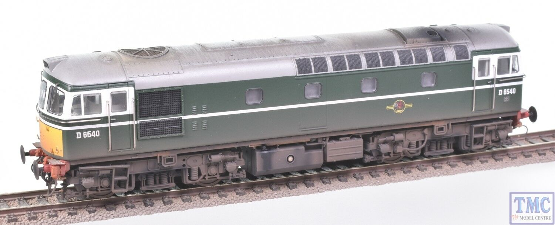 3419 Heljan OO Gauge Class 33 0 D6540 BR verde with Extra Detail Weathering