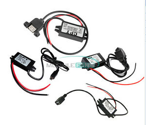 12V Step down to 9//5//6V 2A//3A 15W Mini//Micro//Double USB Power Adapter Converter