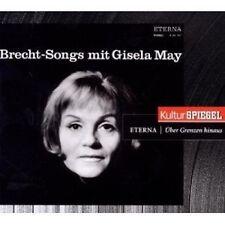 """GISELA MAY """"BRECHT-SONGS (KULTURSPIEGEL-EDITION)""""  CD NEU"""