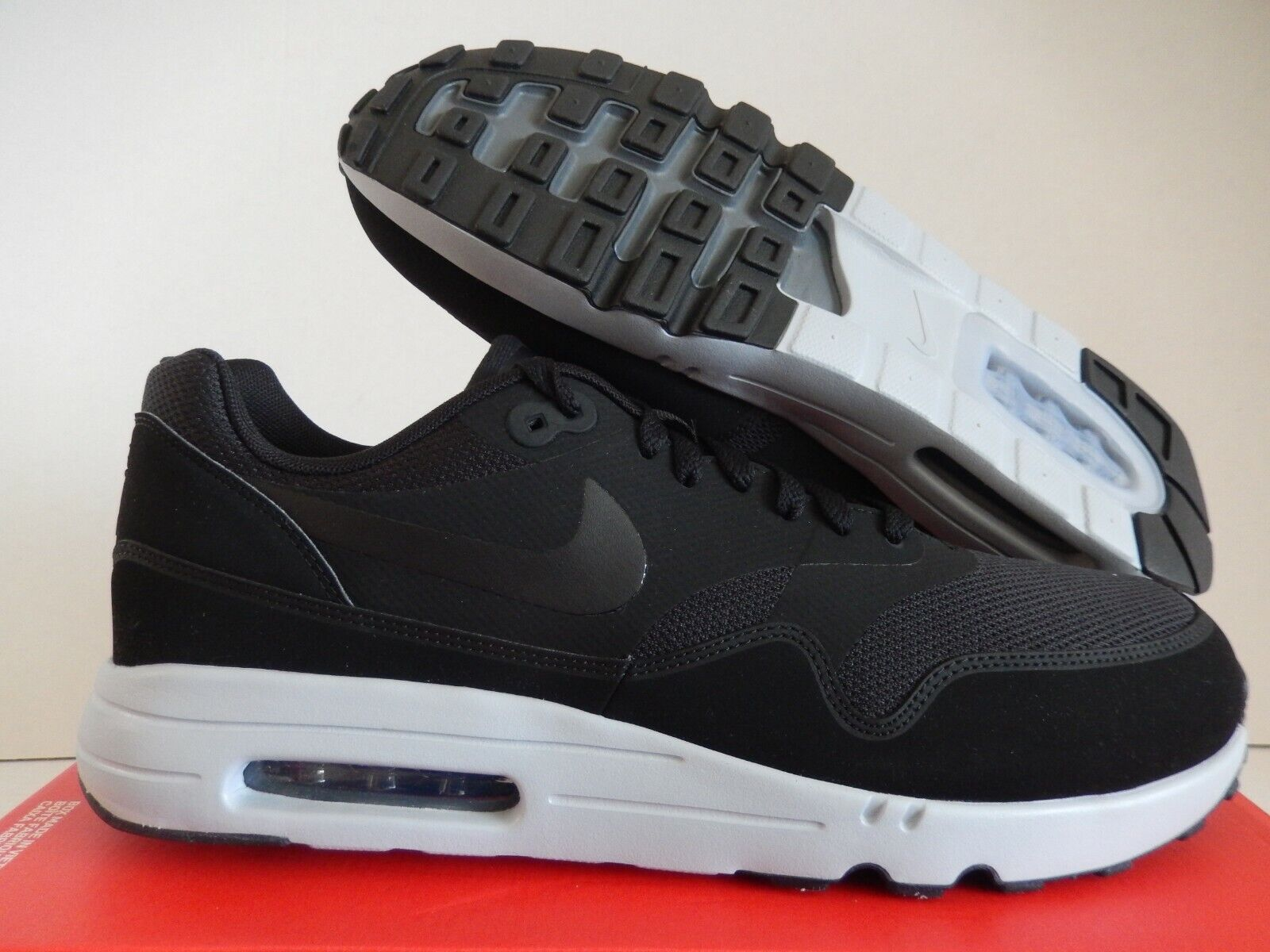 NIKE AIR MAX 1 ULTRA 2.0 ESSENTIAL BLACK BLACK WOLF GREY SZ 13 [875679 002]