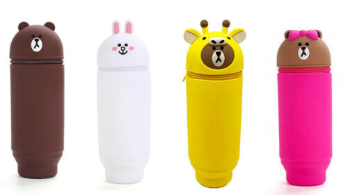 Stand Up Pen Case soft Pencil Case Pen Holder for student and office w//box