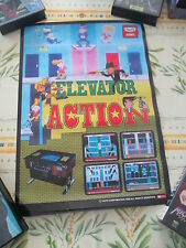 >> ELEVATOR ACTION TAITO ACTION ARCADE B2 SIZE OFFICIAL POSTER! <<