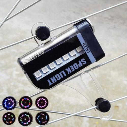 Bicycle Wheel Light Flash 28 RGB LED Light Bicycle Spoke Lamp Night NP/_fr