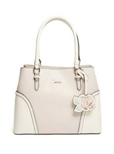 Details about GUESS PURSE foxwood color block satchel by GUESS