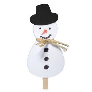 Bastelset schneem nner 10 st ck winter weihnachten advent w scheklammer deko ebay - Bastelset weihnachten ...