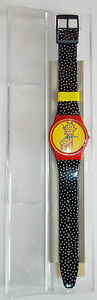 OROLOGIO-WATCH-RELOJ-ORIGINAL-SWATCH-QUARTZ-GR115-DOTCHAIR-1993