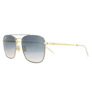 a23487f5c42 Details about Ray-Ban Sunglasses 3588 9063I9 Gold Top On Light Grey Light  Brown Gradient Blue