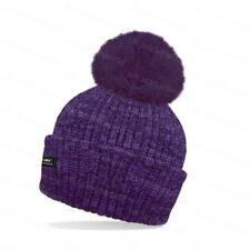 77367920f Rockjock Ladies Marl Chunky Knit Bobble Hat With Fleece Thinsulate ...