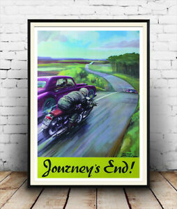 Journeys-End-Vintage-Motorbike-safety-advert-Wall-art-poster-Reproduction