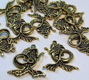 Gold pendants charms mermaid ocean beach 25 pcs jewelry making image is loading gold pendants charms mermaid ocean beach 25 pcs aloadofball Gallery