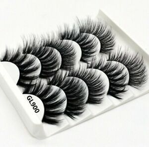5-Pairs-Multipack-Mink-Hair-False-Eyelashes-Wispy-Fluffy-Long-Natural-Eye-Lashes
