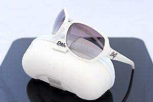 RARE-NEW-Authentic-D-amp-G-Dolce-amp-Gabbana-White-Grey-Lens-Sunglasses-DG-8018-508-8G