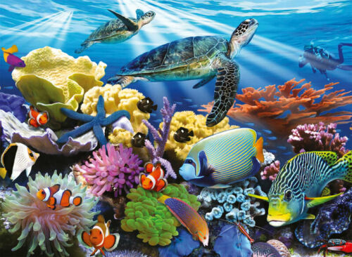 Full Drill 5D Diamond Painting Underwater World Cross Stitch Kits Embroidery Art