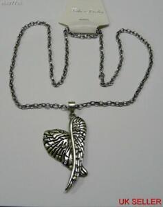 Plata-Vintage-encanto-Collar-Cadena-Alas-de-angel-constelacion-Colgante-Cristales