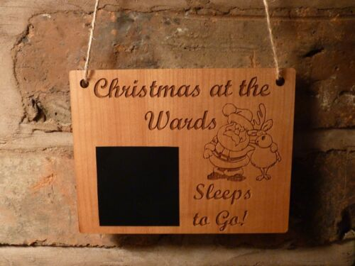 Personalised Wooden Chalkboard advent calendar Christmas Countdown
