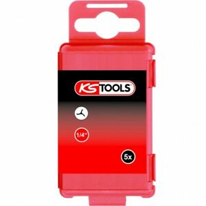 KS TOOLS 911.7720 Boîte de 5 embouts de vissage TRI-WING L.75mm 1/4'' 2-6mm