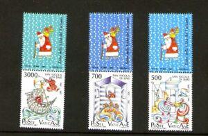 Vaticano-1987-San-Nicolas-de-Bari-con-bandeleta-Yvert-825-827