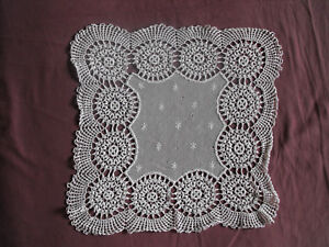 1168-Beautiful-Vintage-Hand-Made-Tablecloth-40cm-40cm-16-039-039-x16-039-039