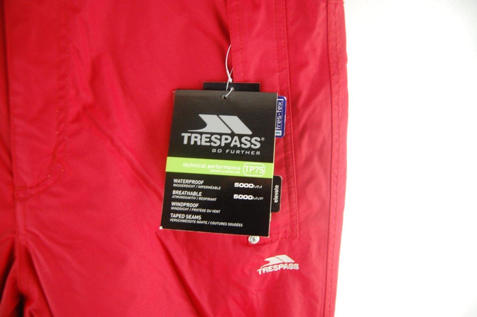 Trespass Download Zipper  Herren Zipper Download Vented Snowboarding and Ski Pants ROT 146759