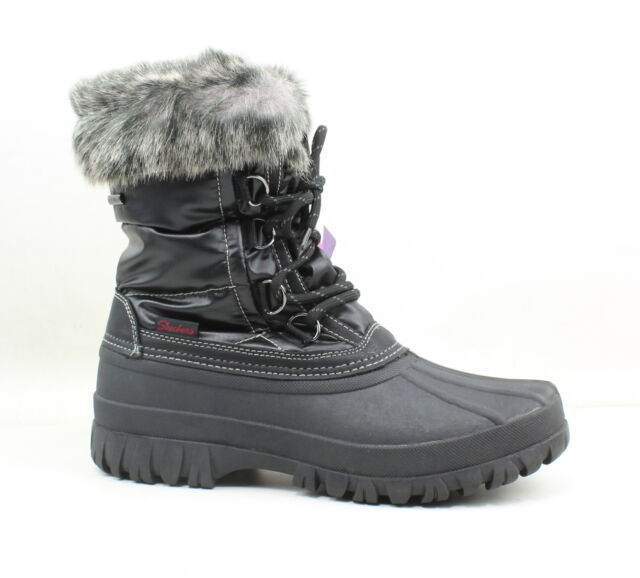 banda recinto Feudal  Skechers Womens Windom Black Snow Boots Size 7 for sale online