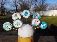 Frozen Fever Disney Cupcake Toppers Birthday Party Favors/fiesta Niñas (24 Set)