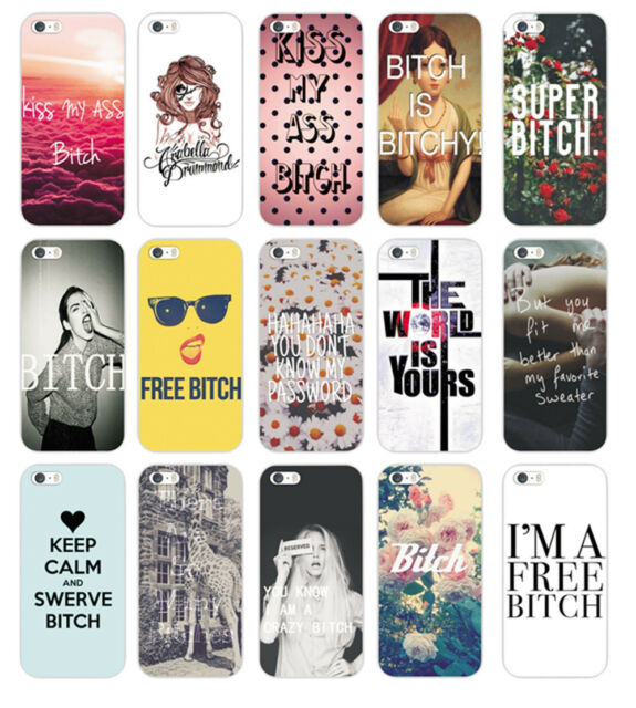 Hot  Saying & Words Pattern Back Hard Case Cover for iPhone 4S 5 5S 5C 6