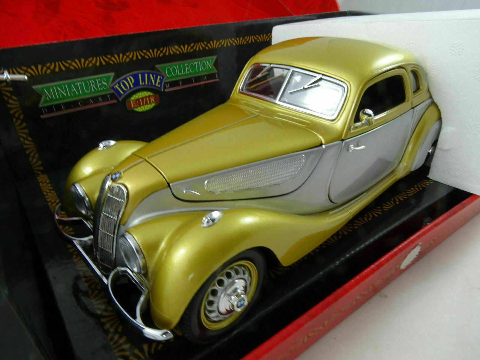 1 18 Guiloy Top Line Coll. 68563 BMW 327 Series Coupe 1937 Gold Weiß NEW OVP