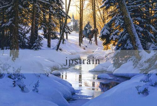 """/""""PEACE IN THE VALLEY/"""" S//N Studio Canvas Giclee By John Paul Strain"""
