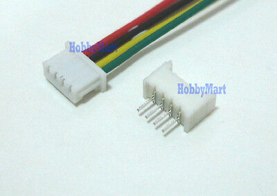 1.25mm Micro 4-Pin JST Male Female Connector with wire 150mm 28AWG x 10 SETS