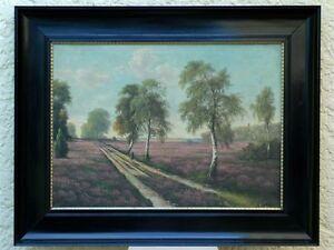 "Karl Merchant ""Heather Landscape"", Oil, CA. 1870"