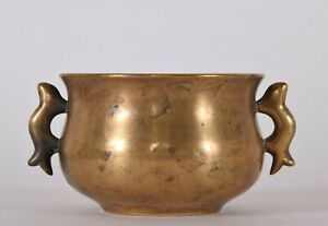Chinese-Bronze-Halbred-Handled-Incense-Burner-Censer-Yilu-17th-18th-Century-Qing