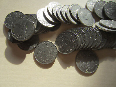 40 Nickel Coins Roll of 1961  Canada Five Cents Coins.