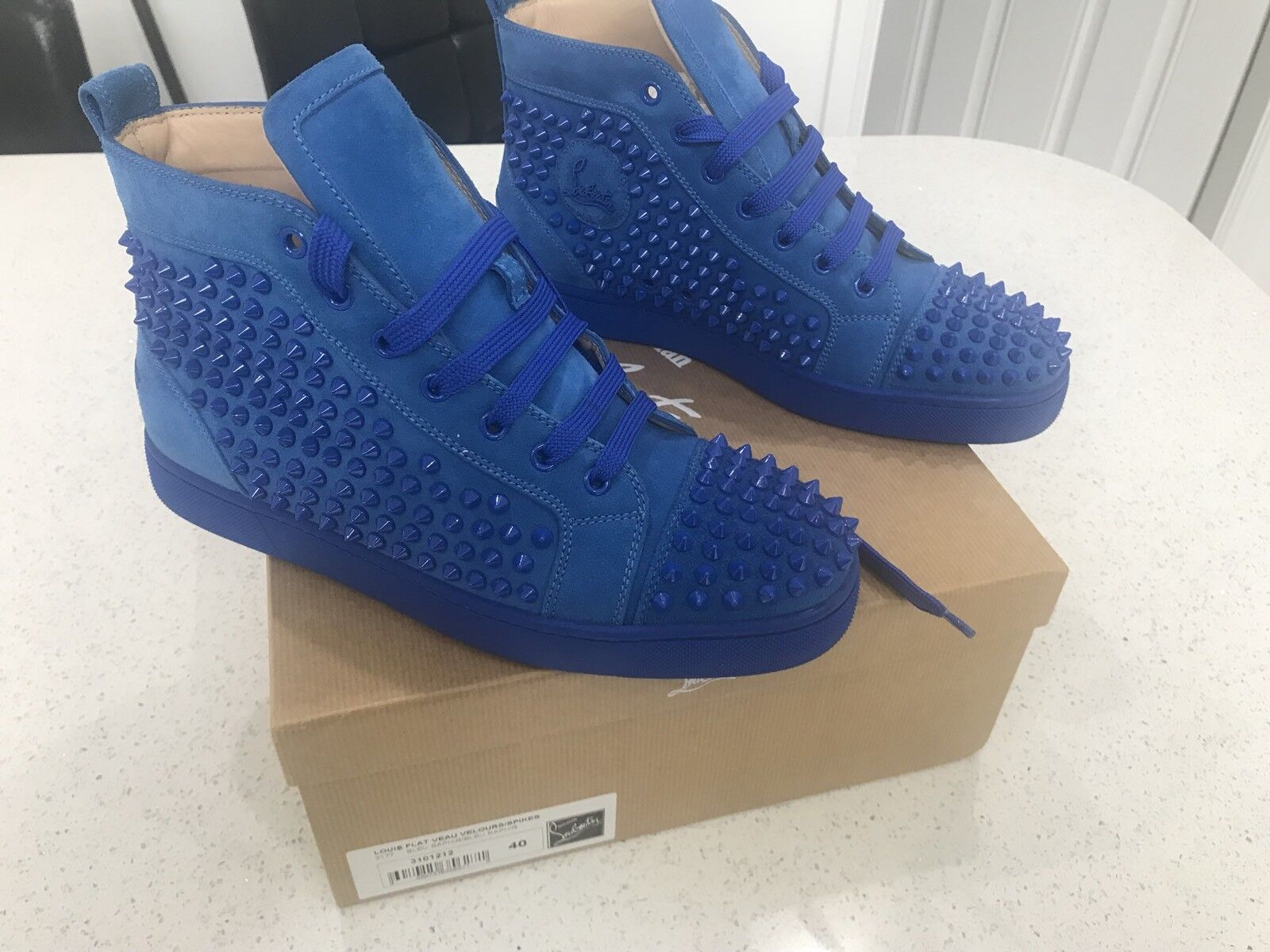 Extremely Rare Men's Christian Louboutins  Smurfs. Size 40. Immaculate Condition