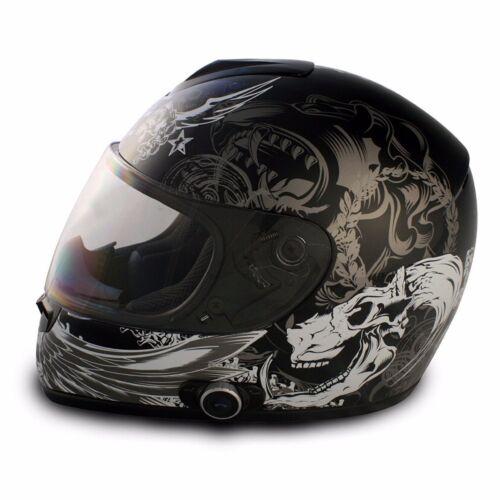 Vcan 136b Dark Angel Bluetooth Motorcycle Helmet-FREE SHIP-GLOSS-ALL SIZES