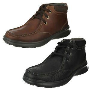 Mens Clarks Leather Lace Up Casual Comfortable Ankle Boots
