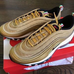 af33aeb545 Nike Air Max 97 Italy Gold Metallic Bullet 100% Authentic AJ8056-700 ...