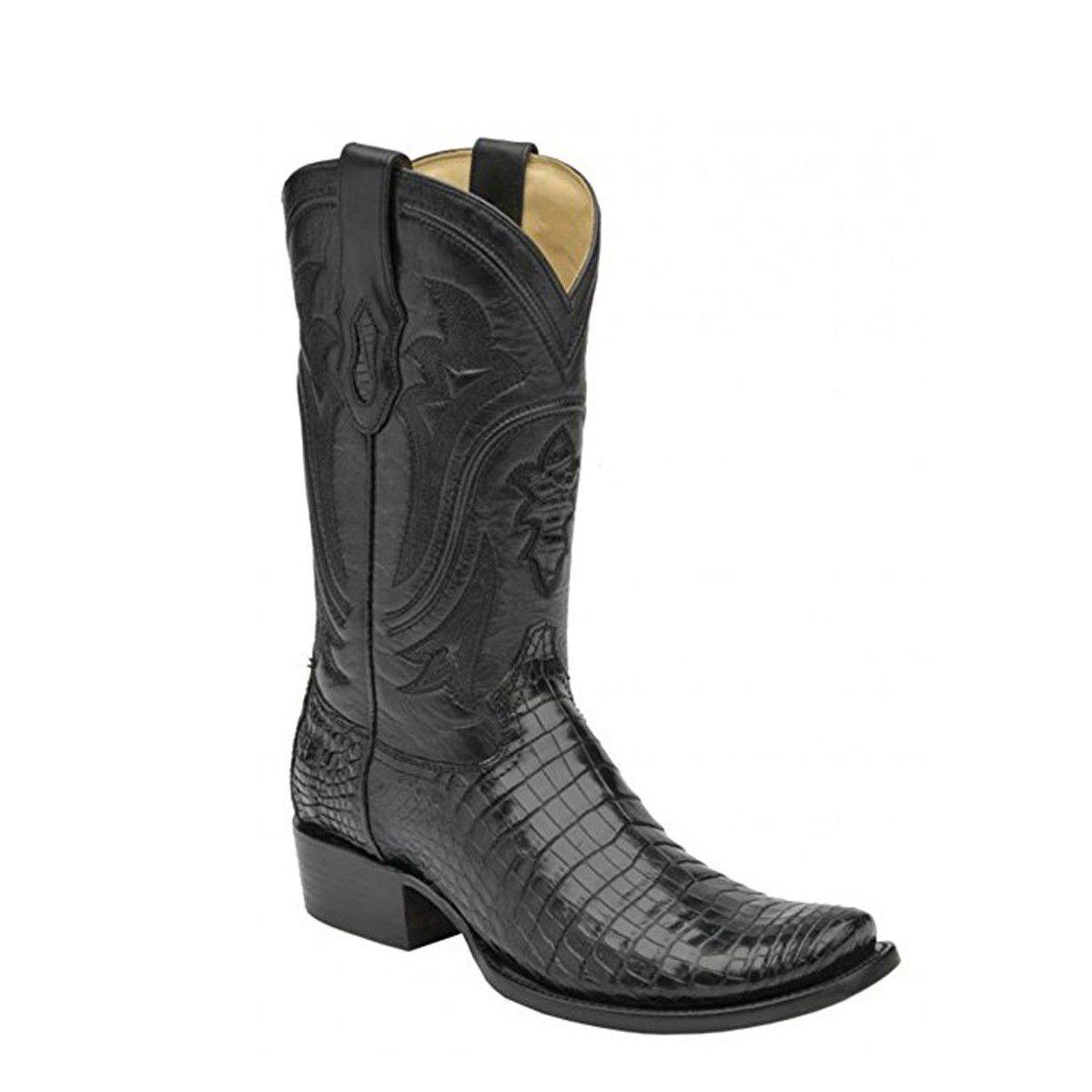 Corral Para hombre Nilo dedo del pie cuadrado del vientre botas de vaquero C1095 C1094