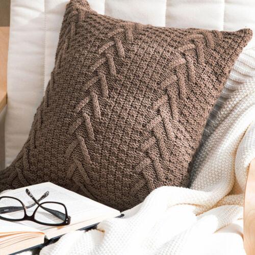 "Knit Throw Pillow Case Cover Cushion Case 18/"" x 18/"""