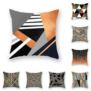 Am-CO-Line-Triangle-Geometric-Pattern-Pillow-Cover-Cushion-Case-Home-Car-Sofa
